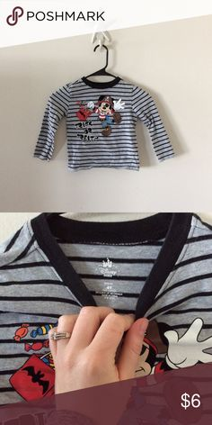 Disney Mickey Pirate Tee sz 4T Great condition, perfect for any Disney lover! Disney Shirts & Tops Tees - Long Sleeve