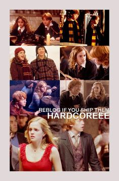 I ship Ron and Hermione :)