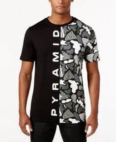 Black Pyramid Men's Graphic-Print T-Shirt - Black Pyramid Clothing, Mens Casual T Shirts, Boys T Shirts, Men's Shirts, Streetwear Fashion, Printed Shirts, Shirt Style, Menswear, Outfits