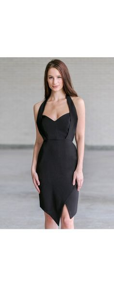 Lily Boutique Risky Business Halter Neck Pencil Dress in Black, $36 Black Halter Cocktail Dress, Cute Little Black Dress, Juniors Dress www.lilyboutique.com Beautiful Dresses, Nice Dresses, Formal Dresses, Risky Business, Lily Boutique, Tuxedo Dress, Business Dresses, Junior Dresses, Pencil Dress