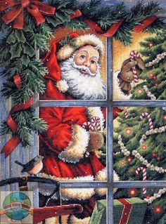 Gold Collection - Candy Cane Santa - Cross Stitch World