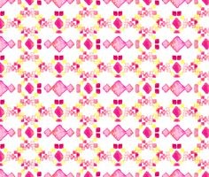 Watercolor Aztec fabric by sberrens on Spoonflower - custom fabric