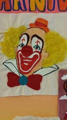 Student: YSB #culture #circus #clown #machineembroidery #embellish #needlefelting #fabricpaint