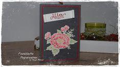 """Fabelhafte Papierwelten: Karte mit dem Stempelset """"Geburtstagsblumen"""" Das i... Stampin Up, Paper, Boxes, World, Weihnachten, Projects, Cards, Foil Stamping"""