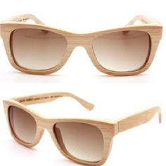 ff5f9defb009c Óculos artesanal de bambú. Lindo, não  Armações De Óculos De Sol, Saída