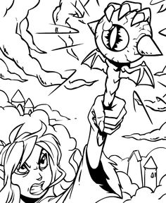 coloring colouring jhudora dark faerie faerieland magic evil staff eyeball