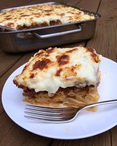 Pastitsio (Greek Lasagna) Authentic Greek pastitsio, Greek comfort food.