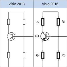 Interesting alternative, eg. to Eagle | Visio 2013 Electrical Shapes, Visio 2016 Electrical Shapes