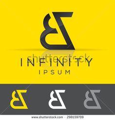 Elegant minimal letter symbol. Alphabet B and Z logo design. Vector illustration.