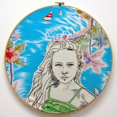 contemporary embroidery, modern embroidery, embroidered portraits, embroidery artist, stitched portraits, 365 project, embroidery, best