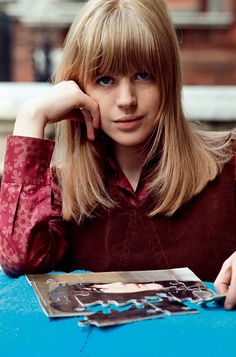Marianne Faithfull' strawberry blonde