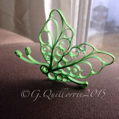 Quilling Green Butterfly
