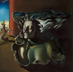 "Salvador Dali ~ ""The Dream"", 1931 ""By the Surrealist painting had moved toward the arena of dreams for inspiration and relied less on the ideas of automatism that had marked the beginning of. Salvador Dali Gemälde, Salvador Dali Paintings, Joan Miro, Pablo Picasso, Figueras, Catalogue Raisonne, Cleveland Museum Of Art, Cleveland Ohio, Spanish Artists"