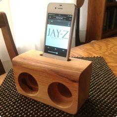 Wooden iPhone/iPad Speakers