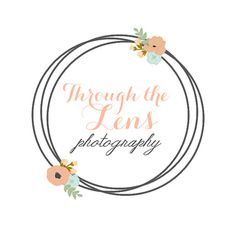 Premade Customized Photography Logo // Boutique Logo // Floral Logo // Chic // Made to Order