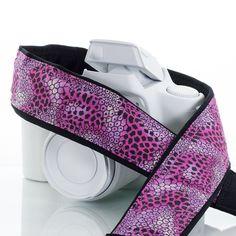 Pink Animal Print Camera Strap 126