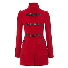 Red hot army coat PRIMARK AW/11