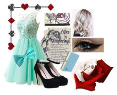 """Alice in Wonderland"" by forestunicorn ❤ liked on Polyvore featuring Olympia Le-Tan and Disney"