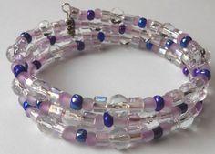 New jewelry - unique, handmade bead memory wire bracelet! Soft Baby Purple Memory Wire Bracelet by VineDesignBeads on Etsy, $14.00