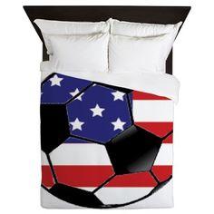 USA Soccer Ball Queen Duvet on CafePress.com