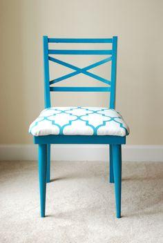 peacock blue chair