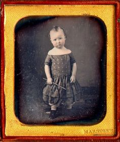 ca. 1850, [daguerreotype portrait of a child with a hoop toy], Charles Albert Marston  via the San Francisco Museum of Modern Art, Photography Collection