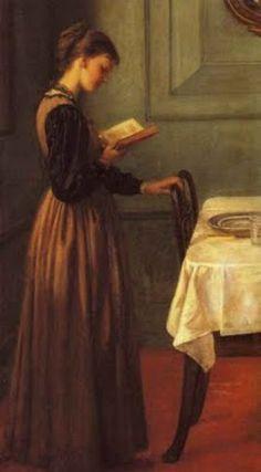 Boek zo spannend, zelfs op weg naar de gedekte eettafel, gauw nog even het hoofdstuk uitlezen.