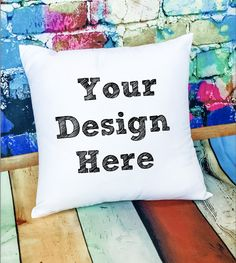 PILLOW MOCKUP  -  Sublimation Cushion Mock Up - Sublimation Mockups - White Cushion mockup by ROBINBIRDmockups on Etsy