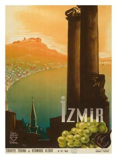size: Giclee Print: Izmir, Turkey - Turkey Touring and Automobile Club by Ihap Hulusi Görey : This exceptional art print was made using a sophisticated giclée printing process, which deliver pure, rich color and remarkable detail. Yosemite National Park, National Parks, Turkey Art, Ways Of Seeing, Travel Posters, Vintage Posters, Touring, Find Art, Vivid Colors