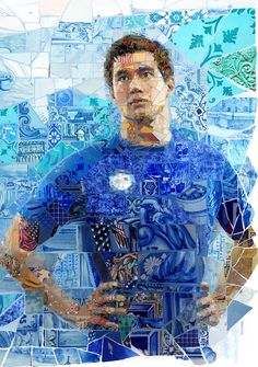 Mosaic murals for the USA House in Rio 2016 Summer Olympics. Created by Charis Tsevis for the United States Olympic Committee.