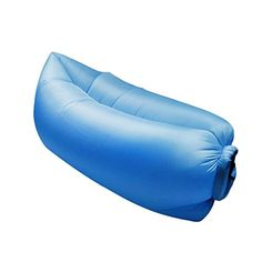 Outdoor Inflatable Convenient Lounger Nylon Beach Sleeping Compression Air Bag for HangoutHikingCamping Blue ** Visit the image link more details.