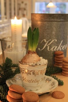 Beautiful table decor with a December candle marked for each day till Christmas