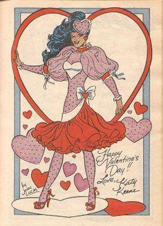 Katy Keene Valentine's Day dress by John Lucas.