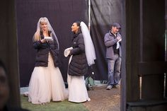 "Behind the scenes of ""A Wedding"" #Glee"