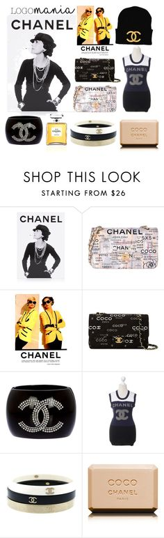 """""""Logomania/ Chanel"""" by amy-brandstatter ❤ liked on Polyvore featuring Assouline Publishing and Chanel"""