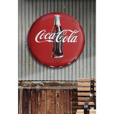 4dfa73054ab Coca-Cola Hollow Curved Tin Button Sign