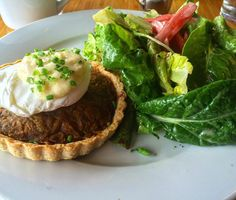 via @eats_pdx: Brunch so good I forgot to post--carmelized onion and cabbage tart #portland #foodie #instagood #follow4follow #like4like #foodporn #food #foodie #love #yes #brunch #saturday #eeeeeats #omg #pdxplates #fresh #farmtofork #salad #breakfast #coffee