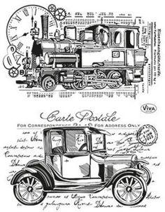 Viva Decor Clear Silicone Stamps Set - Old Timer Viva Decor, Tampons Transparents, Vintage Stamps, Vintage Paper Crafts, Vintage Stuff, Vintage Prints, Clear Silicone, Wedding Scrapbook, Digi Stamps