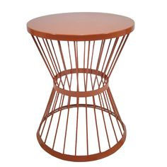 Garden Treasures 20-in Red Powder-Coated Outdoor Round Steel Plant Stand