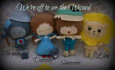 Wizard of Oz Set Dorothy, Tin Man, Scarecrow & Lion