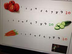 Groente leren eten.  Kinderen moeten sommige dingen zo'n 10x proeven voor ze het waarderen.