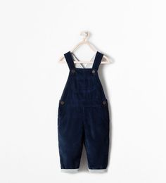 Image 1 of NEEDLECORD DUNGAREES WITH LINING from Zara