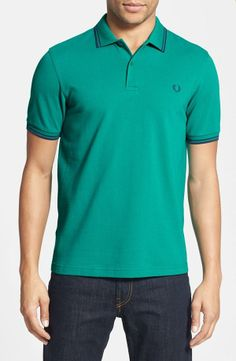 Go green with Fred Perry's trim fit polo