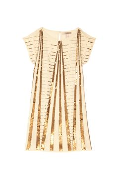 Gold Fit and Flare Cocktail Dress - Cute NYE Party Dresses – New Year's Eve Dresses | OK! Magazine