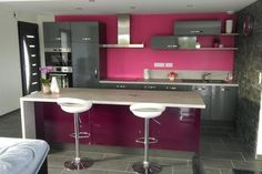 Cuisine rose et gris - Cuisine rose et gris. Un vrai coup de coeur ...