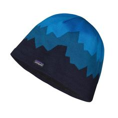 Patagonia Lined Beanie - Discoveries: Navy Blue DCNV