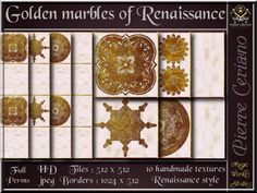 Golden marbles of Renaissance