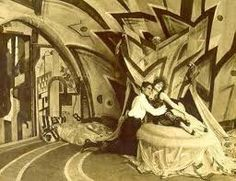 """El gabinete del doctor Caligari"" (1919), un film de Robert Wine . . . . ."