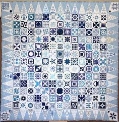 """Bitter Sweet Dear Jane quilt (Japan):  """"Memory of the Color of Water"""""""