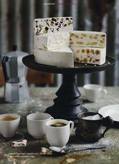 classic almond + pistachio & cranberry + hazelnut & clementine nougat and coffee Profiteroles, Yummy Treats, Sweet Treats, Yummy Food, Cannoli, Holiday Desserts, Just Desserts, Candy Recipes, Sweet Recipes
